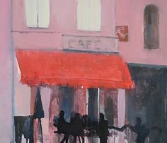 Cafe des Alles by Michael G Clark PAI RSW Royal Society, Composition, Contemporary Art, Colour, History, Artist, Painting, Inspiration, Ideas