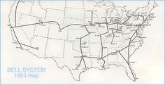 Bell Longlines Major network Hubs