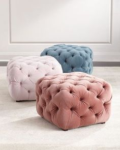 Busby Tufted Cube Ottoman at Horchow.