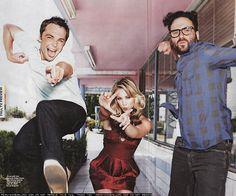 Penny, Leonard, Sheldon.