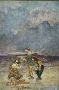 Stephano: Come, swear to that: kiss the book - Shakespear's Comedy of The Tempest, 1908