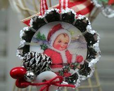 Mini Mold ornaments by Pam Hooten using Crafty Secrets Christmas Scraps