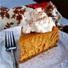 Buttercream Blondie: Flirt With Desserts » Blog Archive » Pumpkin Goat Cheese Cheesecake