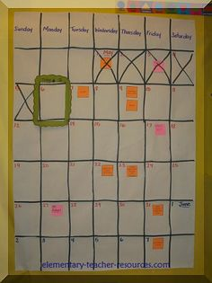 """Create a huge calendar with all of the """"End of the Year"""" events, tests, changes for your students"""