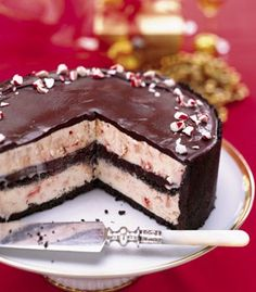 Chocolate Peppermint Ice Cream Cake  This is my all-time favorite Christmas Day Dinner dessert.