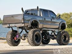 Jacked Up Ford Truck