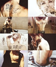 jaejoong's tattoos + black; requested by anonymous