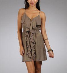 Mocha Satin Summer Dresses