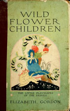 Wild Flower Children: The Little Playmates of the Fairies by Elizabeth Gordon Illustrated by Janet Laura Scott P. Vintage Book Covers, Vintage Children's Books, Antique Books, Book Cover Art, Book Art, Old Children's Books, Baumgarten, Art Nouveau, Beautiful Book Covers