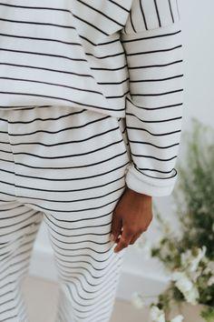 16 independent loungewear brands Beaumont Organic, Recycled Yarn, Cotton Pyjamas, Indie Brands, Playing Dress Up, Black Stripes, Fashion Brand, Pajama Set, Lounge Wear