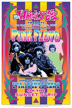 "Pink Floyd Whisky A-Go-Go Posters Decorate your Wall. At the Whisky a Go Go October 30th & 31st, 1967 Direct From England 10 Point Gloss Cover Paper – 14"" x 20"" By Dennis Loren Art Print - Commemorati"