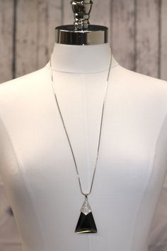 Long Triangle Stone Necklace