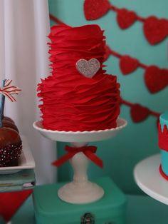 'rose' ruffles - ruffle 'rose' cake
