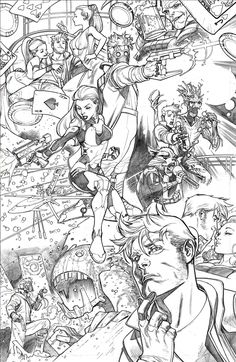 From Sketch to Print: Legendary Star-Lord #1 pencil by Paco Medina / ink by Juan Vlasco