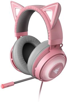 Razer Kraken Kitty RGB USB Gaming Headset: THX Spatial Surround Sound - Chroma RGB Lighting - Retractable Active Noise Cancelling Mic - Lightweight Aluminum Frame - for PC - Quartz Pink