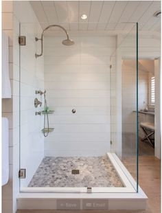 Scored Corian shower walls from Houzz.com