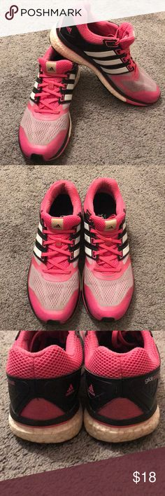 1411e3406d Adidas Sneakers Women's size 10.5!!! Hot Pink, black and white ladies Adidas