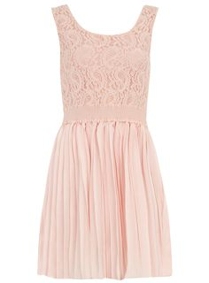 Pink dress with paisley lace
