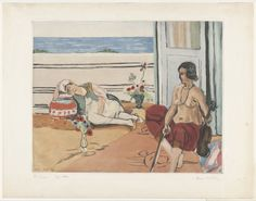 "Jacques Villon with Henri Matisse. Odalisque on a Terrace (Odalisque sur la terrasse), After Matisse. 1922. Henri Matisse. Aquatint and etching. plate: 19 1/8 x 23 11/16"" (48.6 x 60.2cm); sheet: 24 13/16 x 35 7/16"" (63 x 90cm). Bernheim-Jeune, Paris. the artist. 200. Katherine S. Dreier Bequest. 276.1953. © 2016 Artists Rights Society (ARS), New York / ADAGP, Paris. Drawings and Prints"
