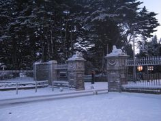 Castletown gates in Winter - Celbridge Historic Houses, Gates, Ireland, Country, Outdoor, Winter, Historic Homes, Outdoors, Rural Area
