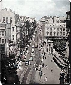 Galatasaray Lisesinin önü - 1956