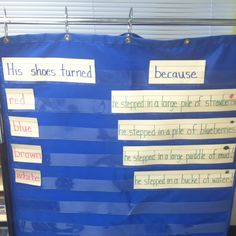 We read Pete the Cat and made a cause and effect chart.  This is a very simple way to show this.  I like it!