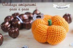 Calabaza de crochet para Halloween. ¡Sigue el patrón y haz una igual! Una forma original de prepararte para esta fiesta. ¿Te animas?