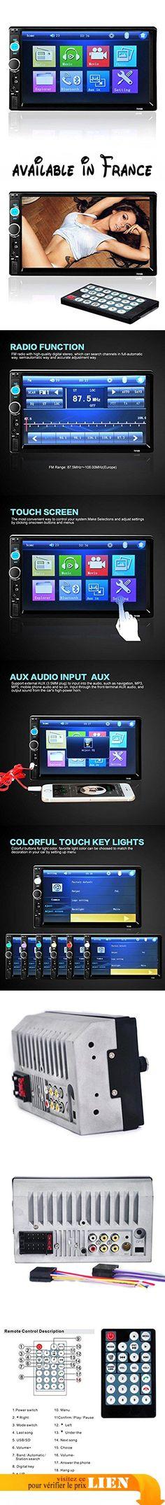 Ularma 7'' HD Bluetooth Écran tactile Voiture Stéréo Radio 2 DIN FM/MP5/MP3/USB/AUX. Fonction principale : MP5, interface USB/TF, FM, Bluetooth, caméra arrière, entrée Aux In. Format vidéo : RMVB/RM/FLV/3GP/MPEG/DIVX/XVID/DAT/VOB/AVI/MP4. Qté de canal/puissance de sortie amplificateur : 45W * 4. Interface : USB/TF/AUX IN. Format audio : MP3/WMA/WAV #GPS or Navigation System #GPS_OR_NAVIGATION_SYSTEM