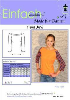 """Schnittmuster T-shirt """"Anna"""""""