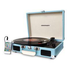 Vitrola Portátil Crosley Cruiser Turquesa -Eletrônicos - Toca discos - Walmart.com