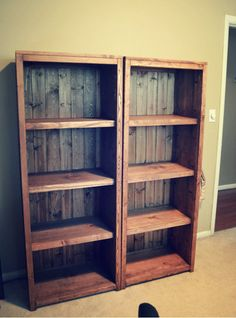 DIY Kentwood BookcasesFIND ENOUGH  SALVAGED WOOD AND YOU CAN MAKE A BIG WAD OF EXTRA INCOME WITH YOUR SMARTS, CREATIVE MIND, AND SKILLS 1/3 THIS IS PALLETT WOOD, THE BACK