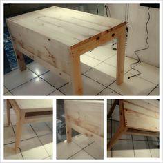 Pine wood desk