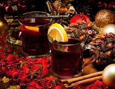 Orange mulled wine ⋆ Recipes with photos Christmas Cocktails, Christmas Wine, Christmas Markets, Christmas Recipes, Merry Christmas, Winter Drinks, Mulled Wine, Yummy Cookies