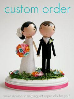 custom wedding cake topper - order for -BRIANWIERIMA. $150.00, via Etsy.