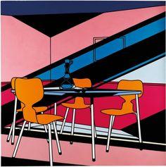 Patrick Caulfield Café Interior: Afternoon 1973