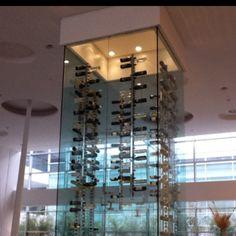 Wine Tower at Sheraton Malpensa.