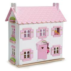 Le Toy Van Holz Puppenhaus 'Sophie´s house' weiß/rosa 67cm bei Fantasyroom