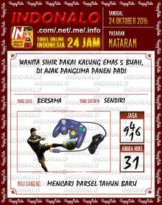 Kode Shio Togel Wap Online Live Draw 4D Indonalo Mataram 24 Oktober 2016