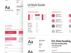 Style Guide - e-commerce app