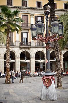 Barcelona Plaça  Reial   Catalonia