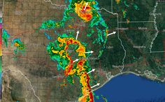4:40 AM Texas Weather Update  * As of 4 AM all tornado watches have expired. * A line of severe thunderstorms from the Gulf Coast near Palacios north to El Campo to Columbus is moving northeast. This line will impact the Houston Metro south to Galveston around 6 AM most likely. * Heavy rain has moved north of D/FW but... Read the whole article at http://texasstormchasers.com/?p=37741 - David Reimer