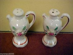 Japan Flowered 3d Pitcher Salt and Pepper Shakers