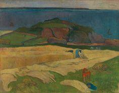 Fixed size image thumbnail Harvest: Le Pouldu 1890, Paul Gauguin