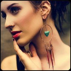 Om Lexi Large Dreamcatcher Earrings
