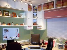Great sewing and craft room.