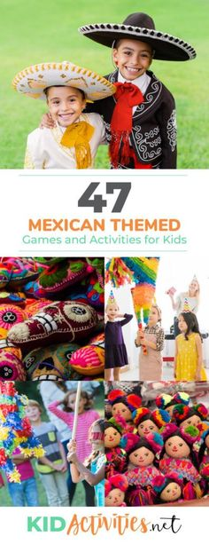 A collection of Mexican themed games and activities for kids. Great for a Mexican themed day or a Cinco De Mayo celebration. Diy Party Games, Toddler Party Games, Games For Toddlers, Party Activities, Fun Activities For Kids, Party Ideas, Activities For Birthday Parties, Kids Fun, Class Activities