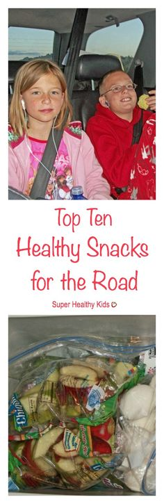 Top Ten Healthy Snacks for the Road. Road tripping? Bring along your healthy snacks! http://www.superhealthykids.com/top-ten-healthy-snacks-for-the-road/