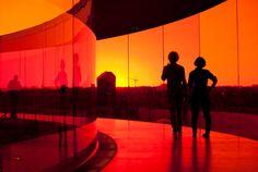 """Your Rainbow Panorama"" on top of ARoS. Image by Ole Hein. #architecture #olafuleliasson #orange #art #rainbow #denmark"