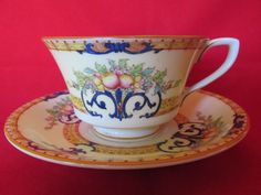 Royal Worcester Cordova Tea Cup and Saucer