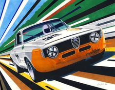 Tim Layzell's Graphic Style Captures Sheer Speed | Petrolicious